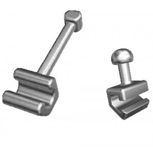 Crimpable Hooks ,  10 Pcs / Pack (Unit)