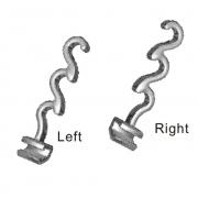 Spiral Crimpable Hook, 10 Pcs / Pack (Unit)