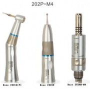 Being® Rose 202(P)-M4 Internal Water Spray Low Speed Handpiece Set (no light), Push Button, E type, with 1:1 rate, KAVO Compatible, 4Holes