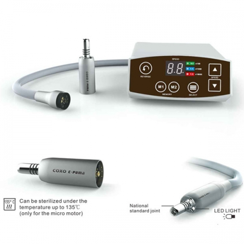 YUSENDENT® Portable Brushless LED Electric Micromotor System C-Puma MINI Type